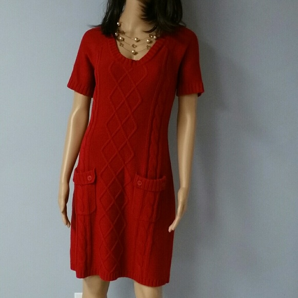 86b6197815 Cato Dresses   Skirts - Red sweater dress from Cato. Size M.